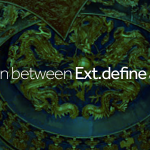 The relation between Ext.define and souces